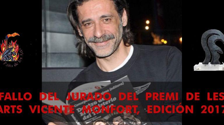 FALLO DEL JURADO DEL PREMI DE LES ARTS VICENTE MONFORT, EDICIÓN 2017