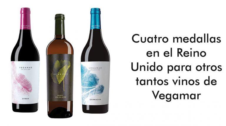 Cuatro medallas en el Reino Unido para otros tantos vinos de Vegamar
