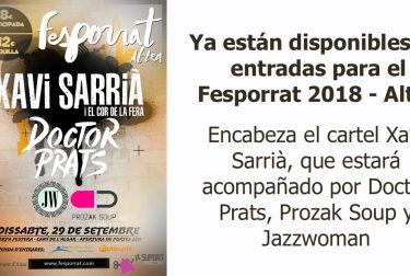 Ya están disponibles las entradas para el Fesporrat 2018
