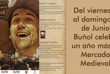 El Paseo de Borrunes de Buñol alberga este fin de semana una nueva edición del exitoso Mercado Medieval