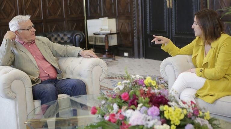 Encuentro entre Joan Ribó y María José Catalá después de las elecciones del domingo