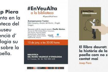 Josep Piera presenta en la Biblioteca del Museu Valencià d'Etnologia su libro sobre la paella.