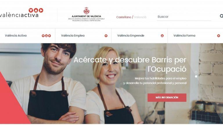 Sandra Gómez hoy ha presentado la nueva web de València Activa
