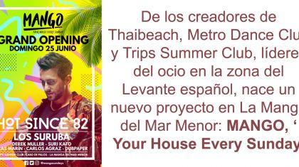 Hot Since 82 encabeza el GRAND OPENING de MANGO el Domingo 25 de junio