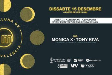 LA DJ INTERNACIONAL MÓNICA X Y TONY RIVA PONDRÁN MARCHA AL METRO NOCTURNO