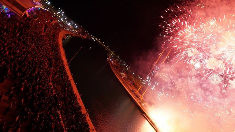 Un espectáculo pirotécnico de Caballer dará las campanadas en La Marina de Valencia