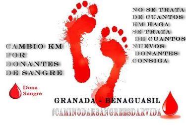 El recorrido solidario por la donación de sangre emprendido por un vecino de Benaguacil este domingo finaliza en Buñol el próximo sábado 25 de agosto