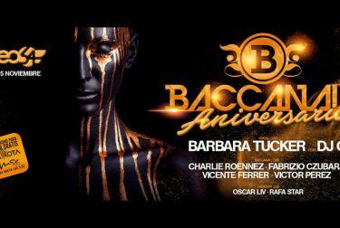 El sábado 25 de noviembre Baccanali celebra su Aniversario en Deseo 54