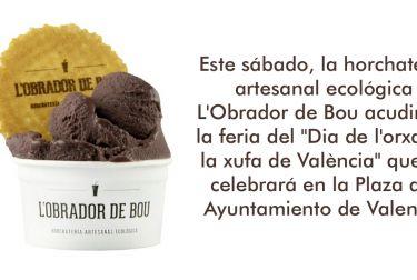 Este sábado, la horchatería artesanal ecológica L'Obrador de Bou acudirá a la feria del