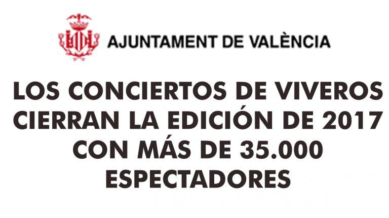 LOS CONCIERTOS DE VIVEROS CIERRAN LA EDICIÓN DE 2017 CON MÁS DE 35.000 ESPECTADORES