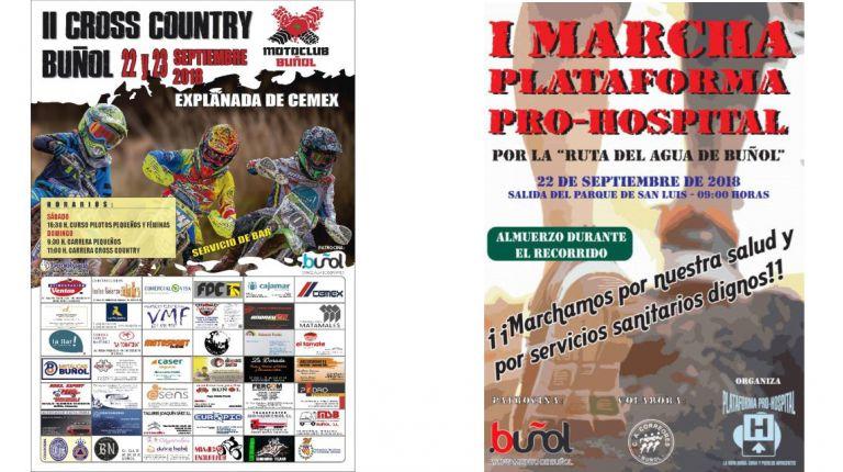 El deporte vuelve a ser protagonista en Buñol con la I Marcha Plataforma Pro-Hospital y el II Cross Country el próximo fin de semana