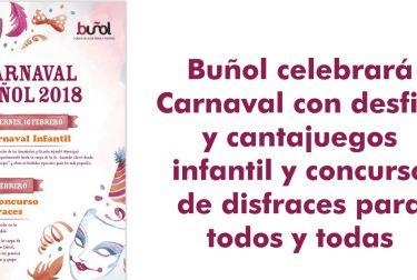 Buñol celebrará Carnaval con desfile y cantajuegos infantil y concurso de disfraces para todos y todas