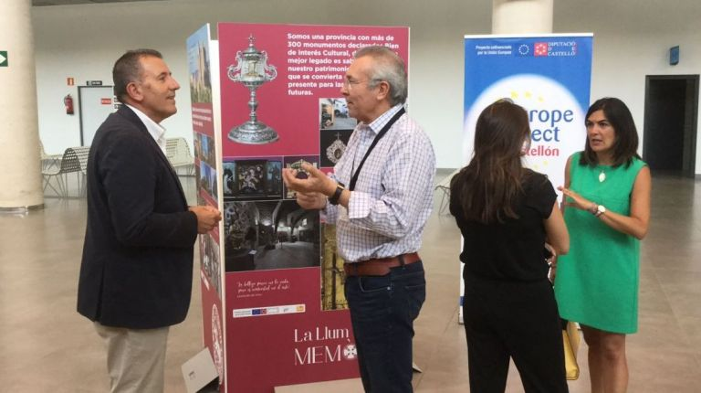 La Diputación de Castellón inicia en el Aeropuerto la exposición itinerante del Patrimonio Cultural de la Provincia