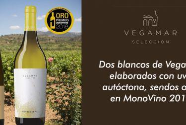 Dos blancos de Vegamar elaborados con uva autóctona, sendos oros en MonoVino 2018