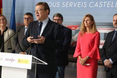 """Puig subraya el papel """"fundamental"""" de los servicios de Cercanías en la mejora de la calidad de vida """"desde la proximidad"""""""