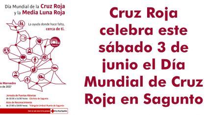 Cruz Roja celebra este sábado 3 de junio el Día Mundial de Cruz Roja en Sagunto
