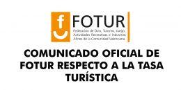 COMUNICADO OFICIAL DE FOTUR RESPECTO A LA TASA TURÍSTICA