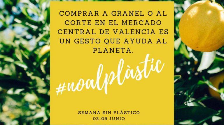 El Mercado Central se suma a la Semana sin Plástico con motivo del Día del Medio Ambiente