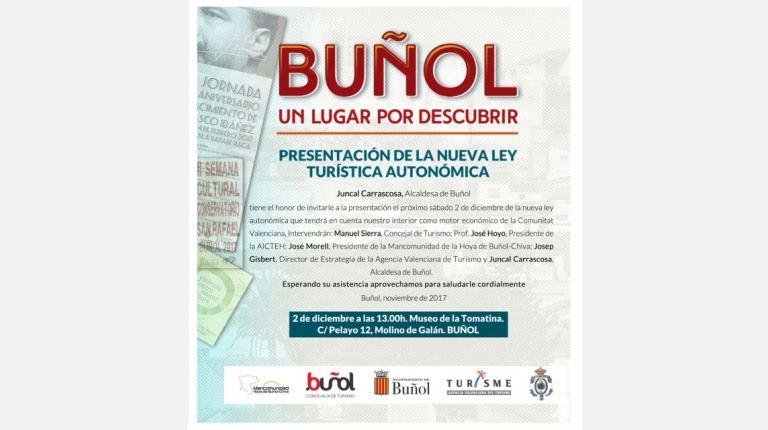 Buñol, reconocido por su turismo ético, albergará este sábado la presentación oficial de la nueva ley turística autonómica