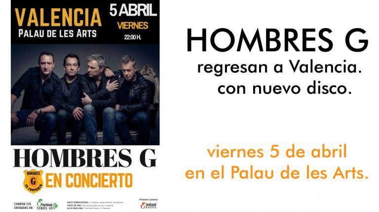 Hombres G regresan a Valencia con nuevo disco
