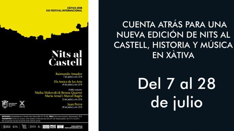 CUENTA ATRÁS PARA UNA NUEVA EDICIÓN DE NITS AL CASTELL, HISTORIA Y MÚSICA EN XÀTIVA