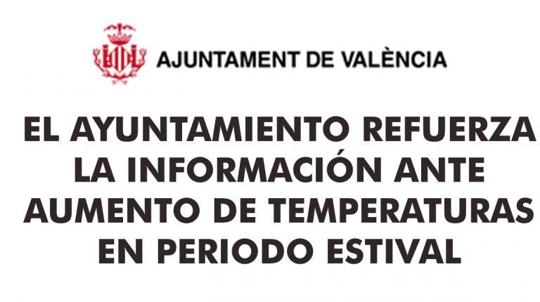 EL AYUNTAMIENTO REFUERZA LA INFORMACIÓN ANTE AUMENTO DE TEMPERATURAS EN PERIODO ESTIVAL