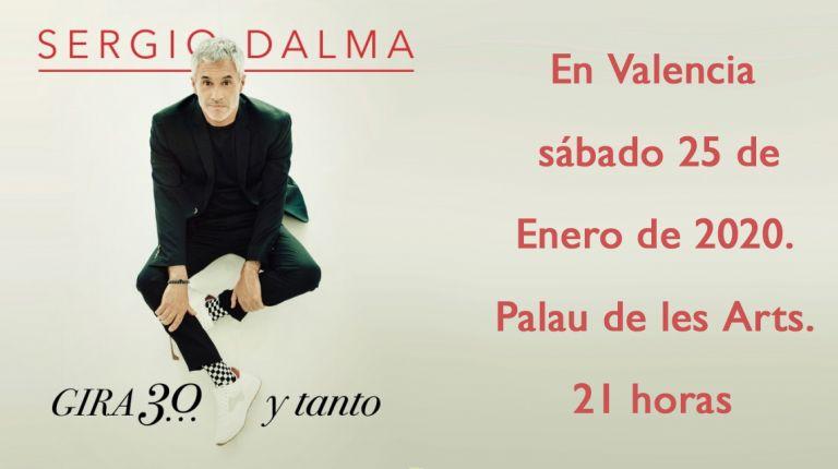 Sergio Dalma en Valencia, sábado 25 de enero de 2020. Palau de les Arts. 21 horas