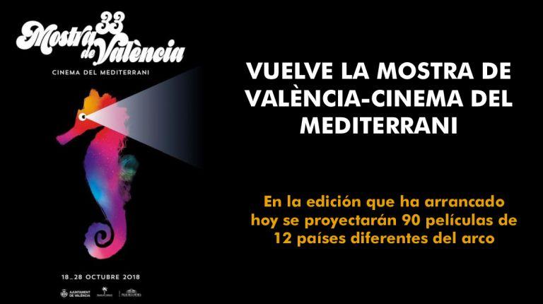 VUELVE LA MOSTRA DE VALÈNCIA-CINEMA DEL MEDITERRANI TRAS UN PARÉNTESIS DE SEIS AÑOS