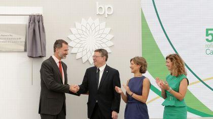 Puig asiste al acto conmemorativo del 50 aniversario de la refinería de BP