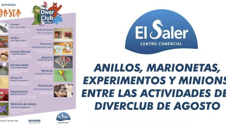 ANILLOS, MARIONETAS, EXPERIMENTOS Y MINIONS, ENTRE LAS ACTIVIDADES DEL DIVERCLUB DE AGOSTO DEL C.C. EL SALER