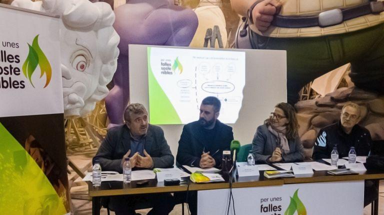 Generalitat, Diputació y Ayuntamiento aúnan esfuerzos para conseguir unas Fallas más sostenibles