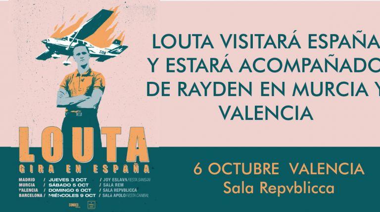 LOUTA VISITARÁ VALENCIA  EL 6 DE OCTUBRE