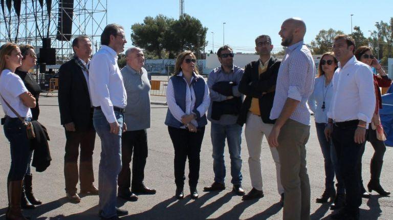 Martínez visita las instalaciones del San San Festival con el que la Diputación comienza 'Castellón Tierra de Festivales' 2018