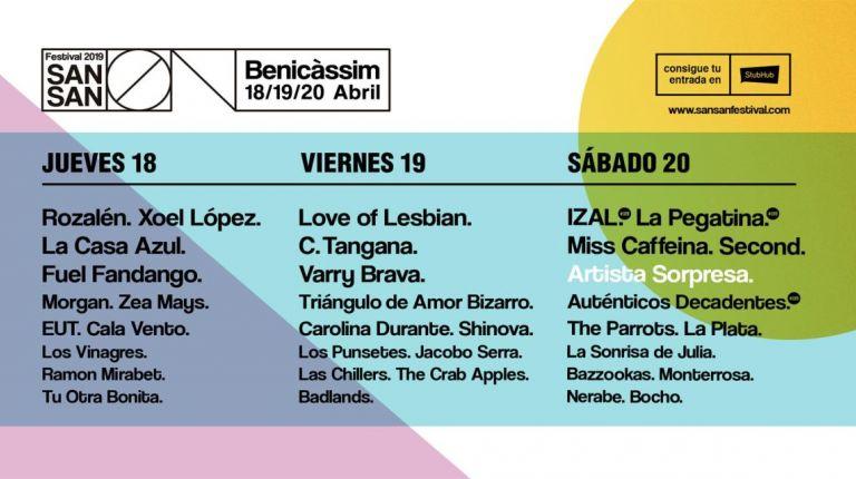 PROGRAMACIÓN POR DÍAS, DEEJAYS Y SORPRESA., YA LLEGA SANSAN 2019.