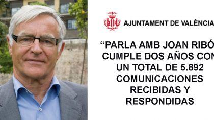 """""""PARLA AMB JOAN RIBÓ"""" CUMPLE DOS AÑOS CON UN TOTAL DE 5.892 COMUNICACIONES RECIBIDAS Y RESPONDIDAS"""