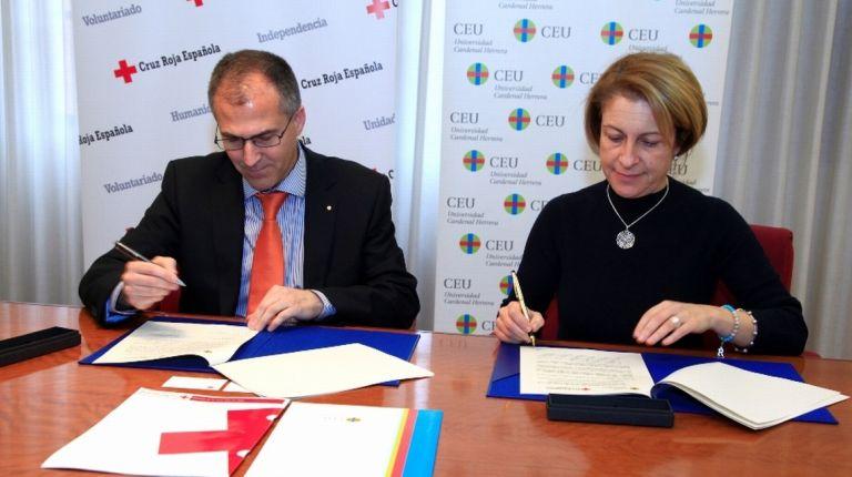 La Universidad CEU Cardenal Herrera y  Cruz Roja Española firman un convenio