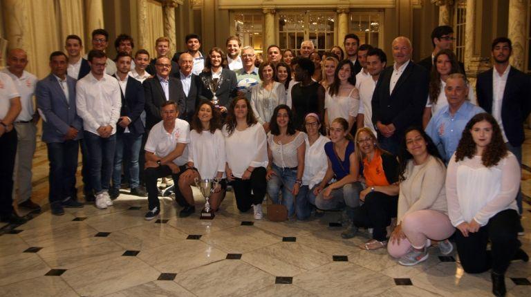 El alcalde de Valencia ha recibido a las Selecciones de Rugby de la Comunidad Valenciana sub20 masculina y sub18 femenina