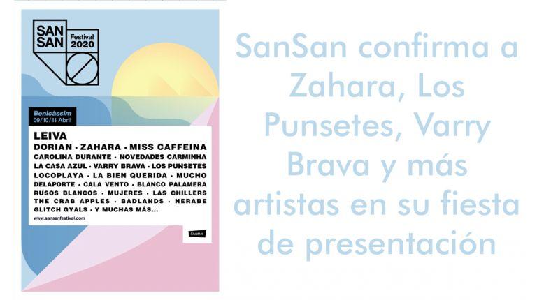 SanSan confirma a Zahara, Los Punsetes, Varry Brava y más artistas en su fiesta de presentación