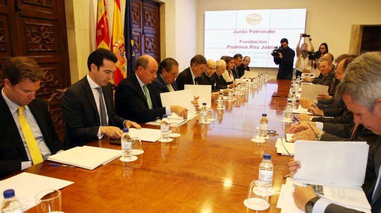 Puig preside la reunión del patronato de la Fundación Premios Rey Jaime I