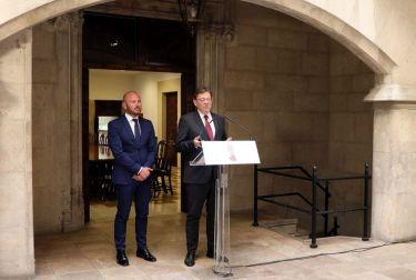 Puig anuncia la creación de dos comisiones con la Diputación de Valencia para coordinar competencias y presupuestos