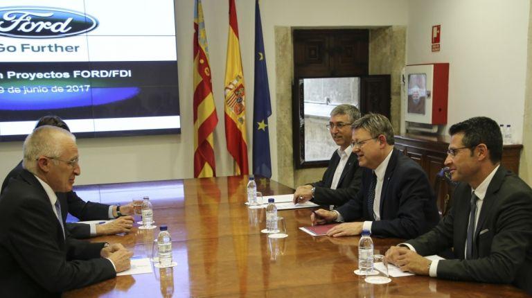 Puig preside la reunión de la comisión de seguimiento de Ford