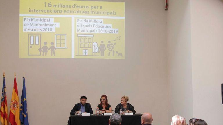 La Diputació financiará obras de mejora de todas las guarderías, conservatorios y escuelas de adultos municipales de las comarcas valencianas