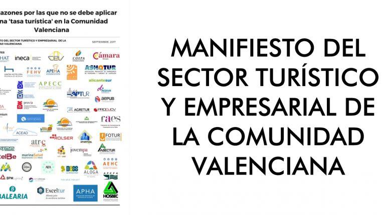 MANIFIESTO DEL SECTOR TURÍSTICO Y EMPRESARIAL DE LA COMUNIDAD VALENCIANA
