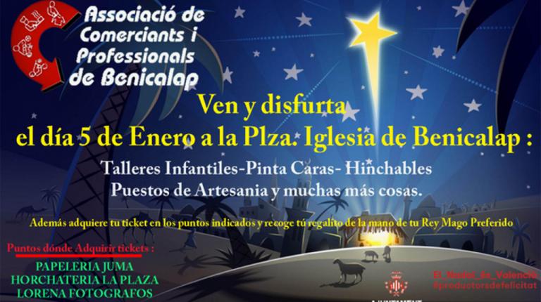 Los niños de Benicalap recibirán a los Reyes Magos en su barrio gracias al esfuerzo de la Asociación de Comerciantes y Profesionales