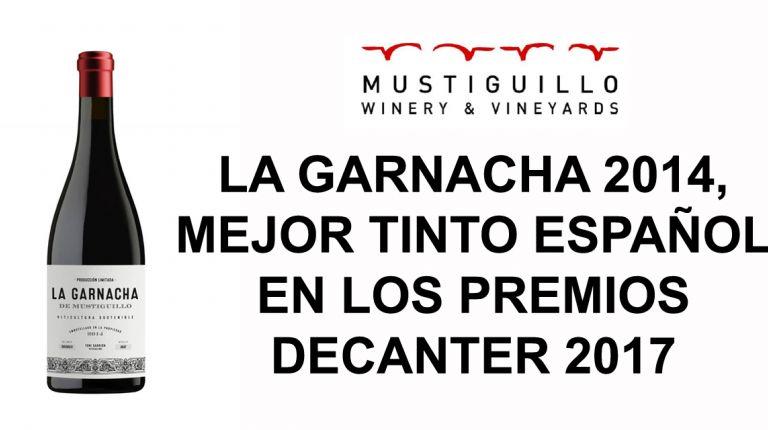 LA GARNACHA 2014, MEJOR TINTO ESPAÑOL EN LOS PREMIOS DECANTER 2017