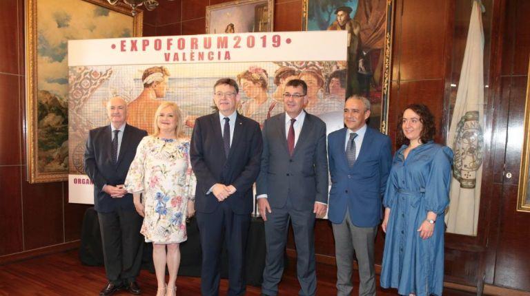 Ximo Puig asiste a la presentación de Expoforum València 2019 en el Ateneo Mercantil