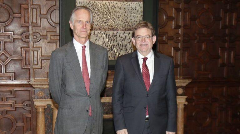 Ximo Puig recibe en audiencia al director gerente de la Cámara de Comercio Alemana para España