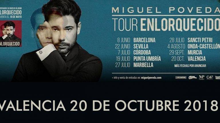 Miguel Poveda, 'EnLorquecido Tour' Palau de les Arts el 20 de octubre.