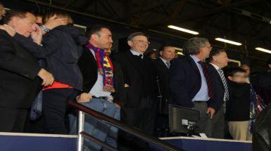 Ximo Puig asiste al partido de fútbol entre el Levante UD y el Real Oviedo