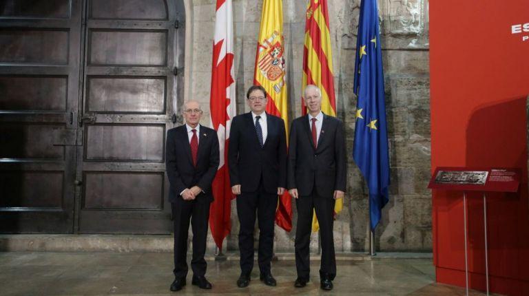 Puig recibe en audiencia al representante de Canadá ante la Unión Europea y al embajador canadiense en España